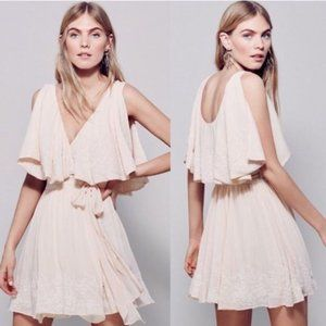 NEW Free People Sylvia Beaded Boho Wrap Dress